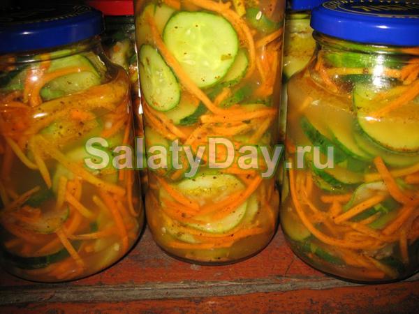 Салат из огурцов с укропом на зиму - пошаговый рецепт с фото