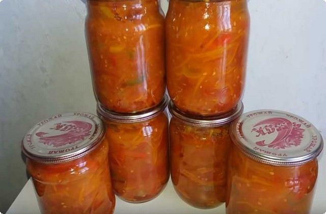 Салат из помидоров на зиму без стерилизации - рецепт с пошаговыми фото