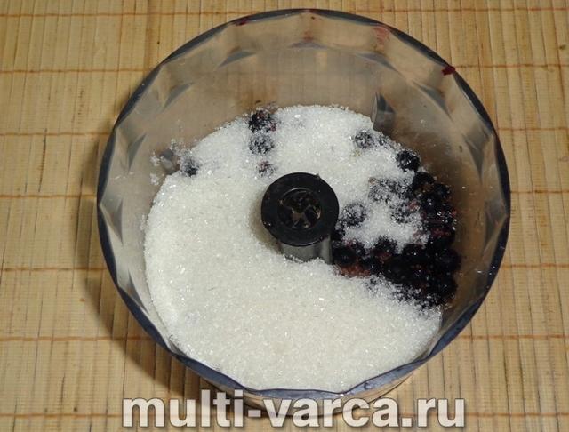 Чёрная смородина без варки в блендере на зиму - рецепт с пошаговыми фото