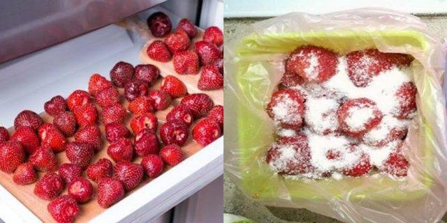 Клубника с сахаром без варки в холодильнике на зиму - рецепт с пошаговыми фото