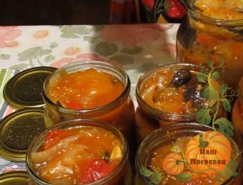Салат из баклажанов без помидоров на зиму - пошаговый рецепт с фото