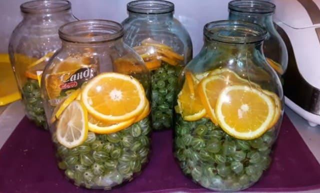 Компот из крыжовника с апельсином на зиму - рецепт с пошаговыми фото