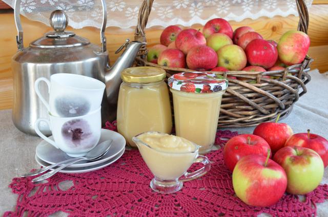 Яблочное пюре из антоновки в мультиварке на зиму - рецепт с пошаговыми фото