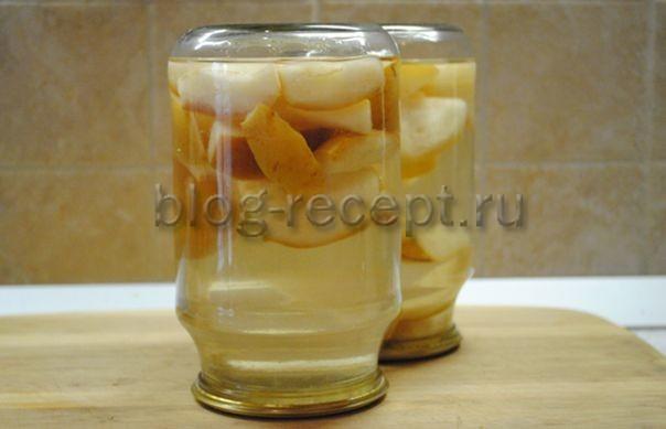 Компот из целых груш на 3-х литровую банку без стерилизации на зиму - простой рецепт от автора