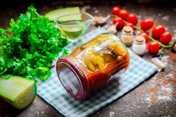 Соте из баклажанов с томатной пастой на зиму - рецепт приготовления с пошаговыми фото