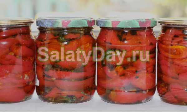 Салат из помидоров с луком на зиму - 5 рецептов с фото пошагово