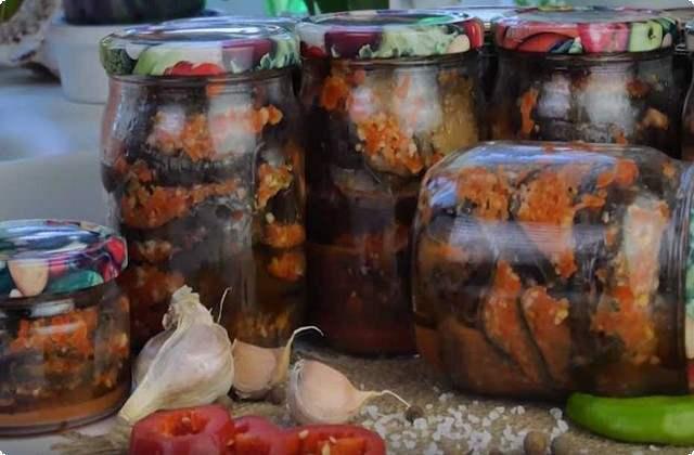 Закуска из баклажан без стерилизации на зиму - рецепт приготовления с пошаговыми фото