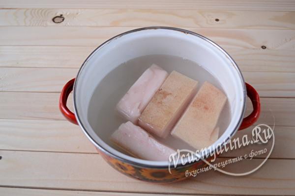 Мягкое сало в рассоле на зиму - рецепт с пошаговыми фото