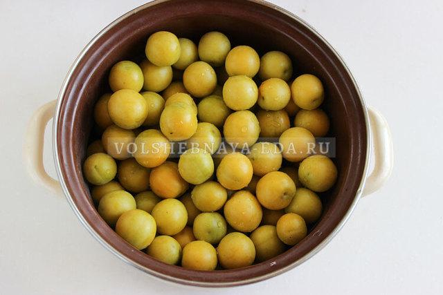 Желе из желтой алычи на зиму - рецепт с пошаговыми фото