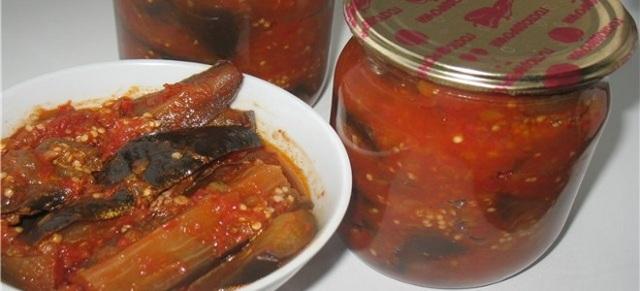 Жареные баклажаны в аджике на зиму - простой пошаговый рецепт