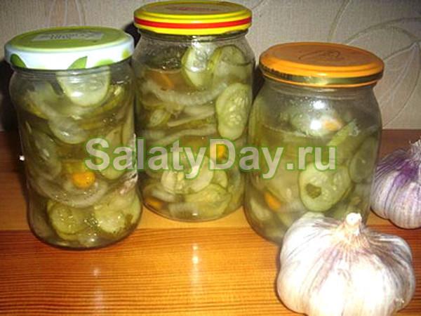 Салат из огурцов с горчицей на зиму - 5 рецептов с фото пошагово