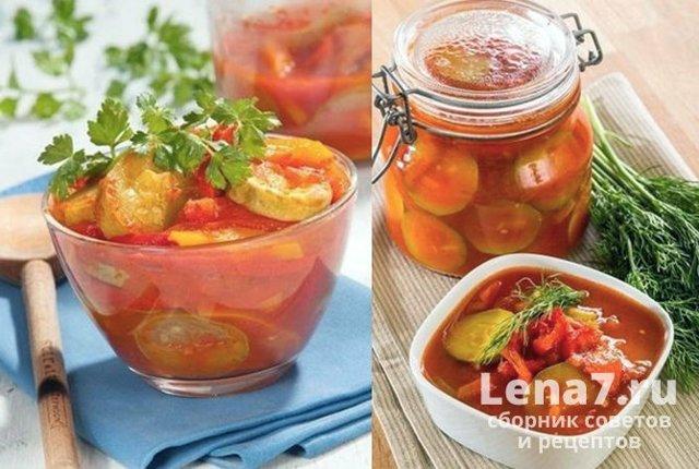 Салат из помидоров с огурцами на зиму - 60 рецептов самых вкусных с пошаговыми фото