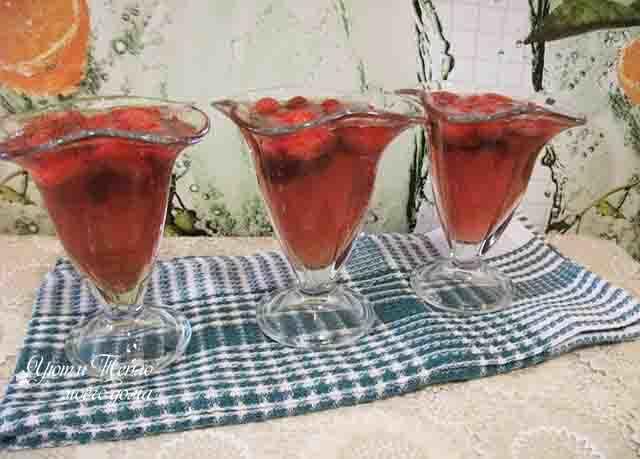 Желе из брусники с желатином на зиму - рецепт с пошаговыми фото