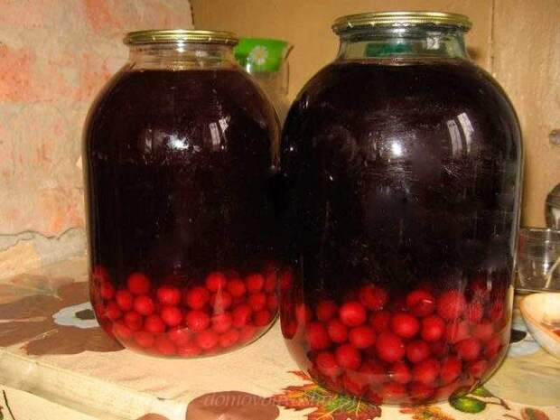 Компот из груш и вишни на зиму - простой пошаговый рецепт