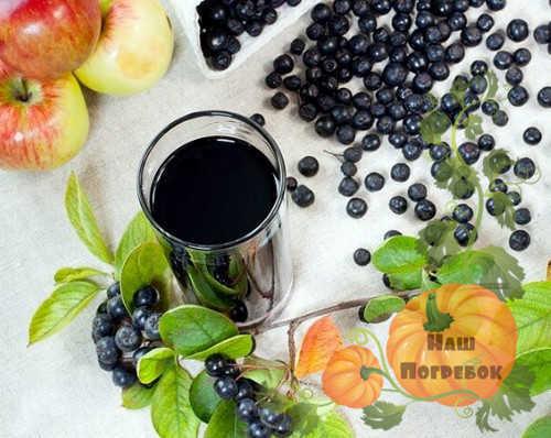 Компот из черноплодной рябины на 3-литровую банку на зиму - простой пошаговый рецепт