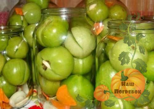 Маринованные зеленые помидоры с чесноком на зиму - 5 рецептов с фото пошагово
