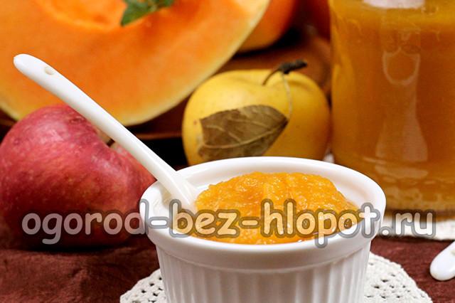 Пюре из ранеток и тыквы на зиму - рецепт с пошаговыми фото