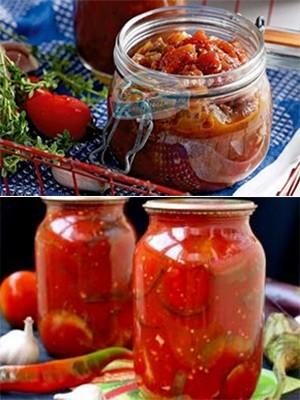 Салат из баклажан и помидоров на зиму - рецепт приготовления с пошаговыми фото