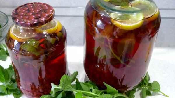 Черничный компот с лимоном на зиму - рецепт на 3-х литровую банку с пошаговыми фото