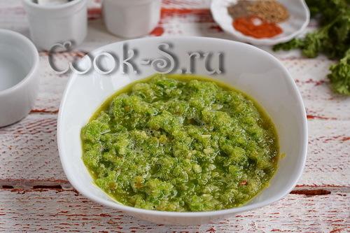 Аджика из зеленого перца на зиму - простой пошаговый рецепт