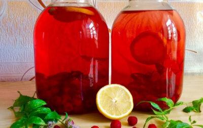 Компот из малины с апельсином на 3-литровую банку на зиму - простой пошаговый рецепт