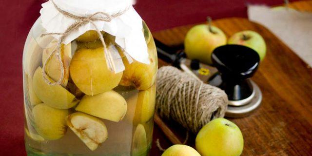 Компот из яблок антоновка на 3-х литровую банку на зиму - рецепт с пошаговыми фото
