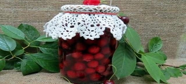 Вишня в собственном соку без сахара на зиму - рецепт с пошаговыми фото