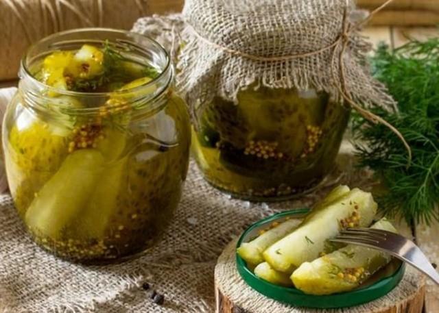 Огурцы с горчицей без стерилизации в банках на зиму - 23 рецепта с пошаговыми фото