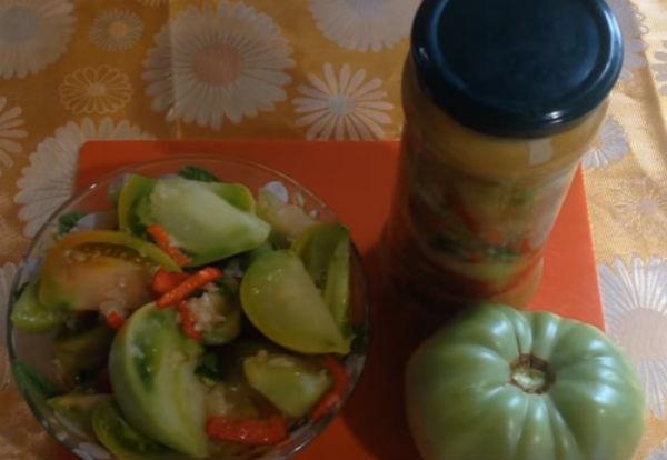 Зеленые помидоры по-корейски на зиму - самые простые рецепты