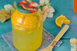 Компот из черники с апельсином на зиму - рецепт с пошаговыми фото