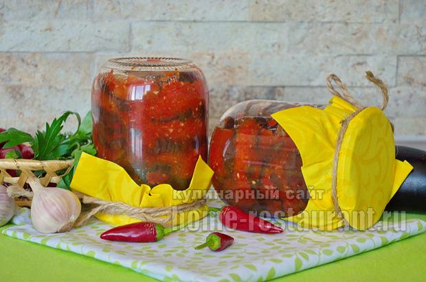 Салат из баклажанов и помидоров на зиму - 73 рецепта пальчики оближешь с пошаговыми фото