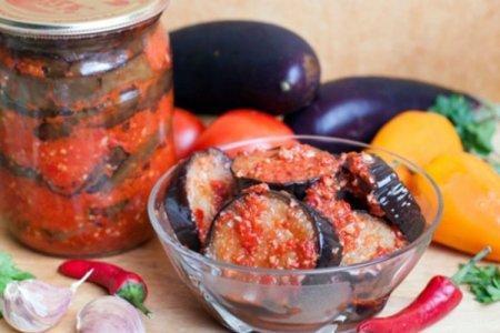 Салат из жареных баклажанов, болгарского перца и помидоров на зиму - пошаговый рецепт с фото