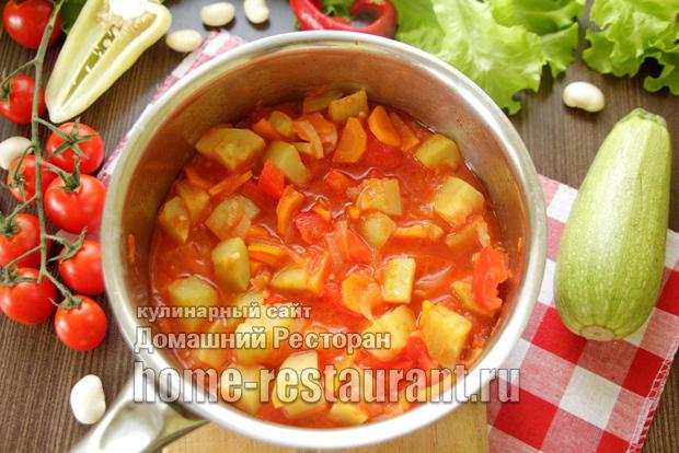Салат из кабачков с фасолью на зиму - рецепт с пошаговыми фото