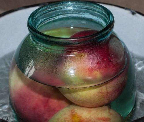 Компот из вишни и персиков на 3-х литровую банку на зиму - простой рецепт от автора