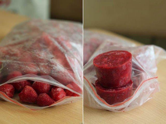 Клубника протертая блендером с сахаром на зиму - самые простые рецепты