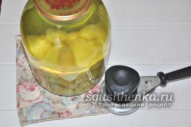 Компот из черешни с косточками в 3-х литровых банках без стерилизации на зиму - простой пошаговый рецепт