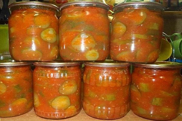 Огурцы в томате на зиму - обалденный рецепт с пошаговыми фото