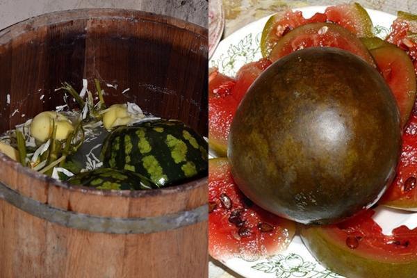 Арбузы в бочке целиком на зиму - пошаговый рецепт с фото