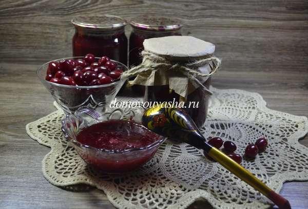 Джем из кизила на зиму - пошаговый рецепт приготовления с фото