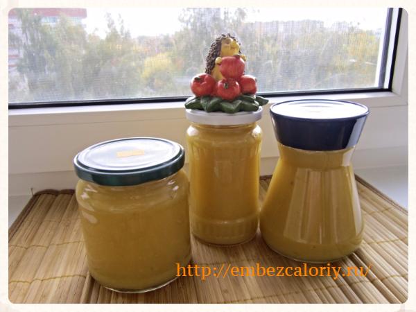 Яблочное пюре без сахара на зиму - пошаговый рецепт с фото