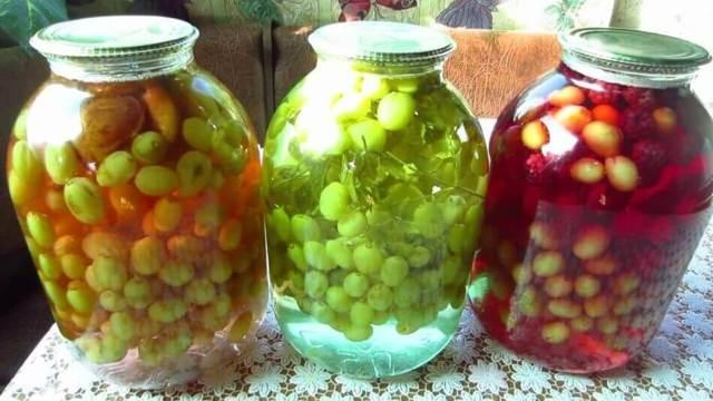 Компот из слив и винограда на зиму - простой пошаговый рецепт