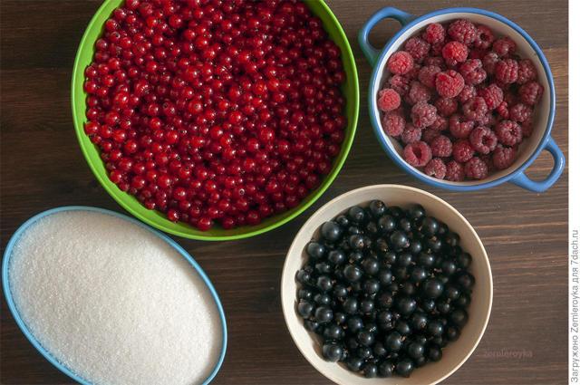 Желе из малины и красной смородины на зиму - простой пошаговый рецепт