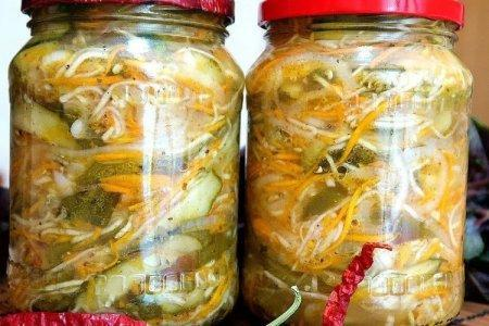 Салат из кабачков и перца на зиму - пошаговый рецепт с фото