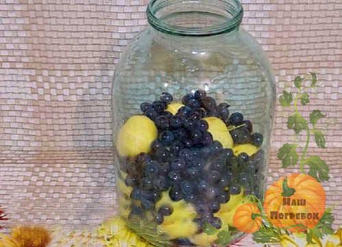 Компот из винограда без стерилизации в литровых банках на зиму - простой рецепт в пошаговыми фото