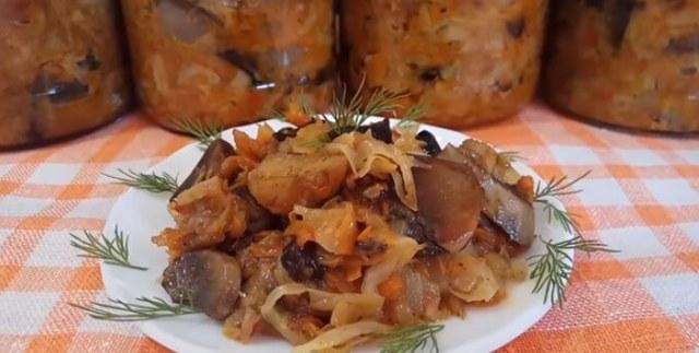 Солянка с грибами как в магазине на зиму - рецепт приготовления с пошаговыми фото