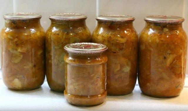 Солянка с шампиньонами на зиму - простой пошаговый рецепт
