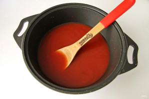 Томатный сок с болгарским перцем на зиму - простой пошаговый рецепт