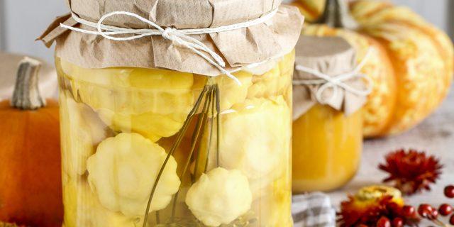 Хрустящие маринованные патиссоны на зиму - 5 рецептов с фото пошагово