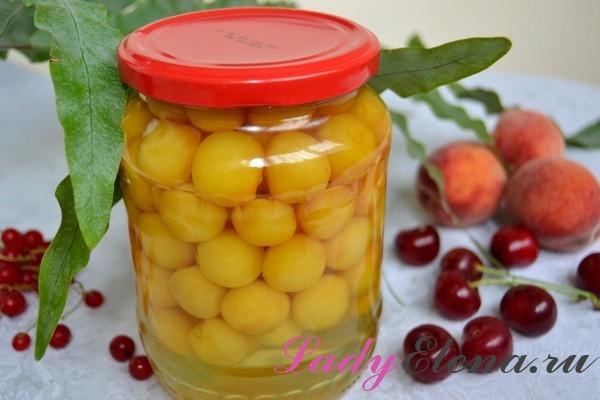 Компот из черешни и вишни на зиму - простой рецепт на 3-х литровую банку с фото