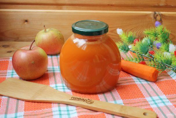 Морковно-яблочный сок с мякотью на зиму - рецепт с пошаговыми фото